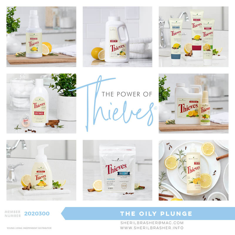 The Power of Thieves! There are so many wonderful ways to use Thieves and the Thieves infused products that Young Living offers. We will be highlighting some of them over at sherilbrasher.info/theoilyplungeblog.html.