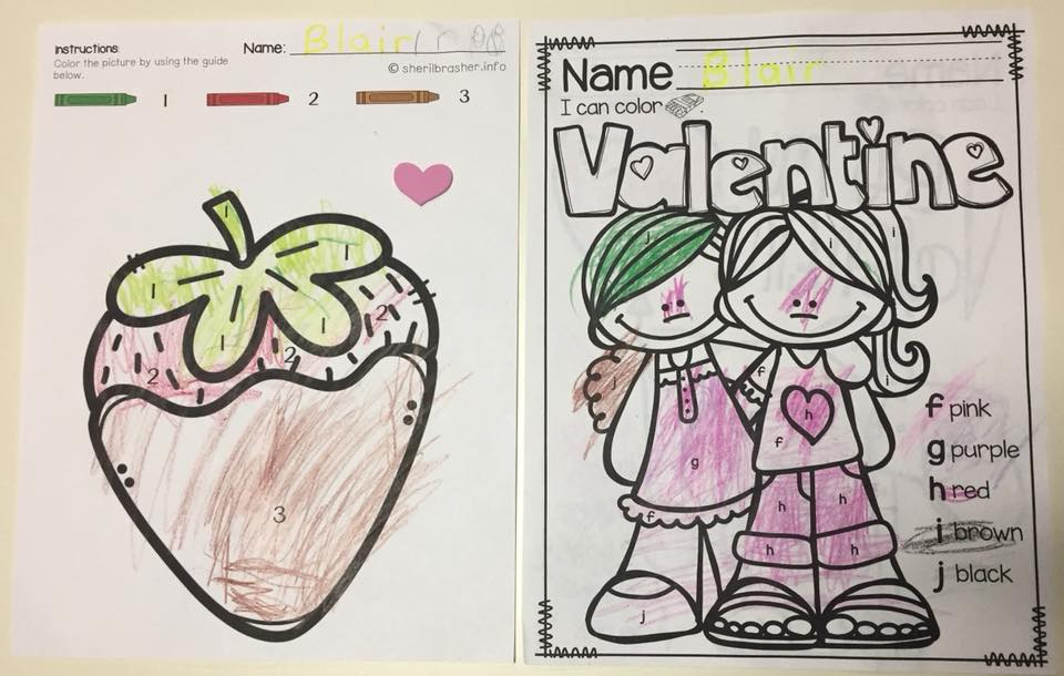 Color by Code: Valentine's Day FREEBIE - Check out how to use Color by Code activities for fun reinforcements for all kinds of things, even for high schoolers. While you are there, grab this free sample of our Color by Code: Valentine's Day PreK Numbers & Letters activity.