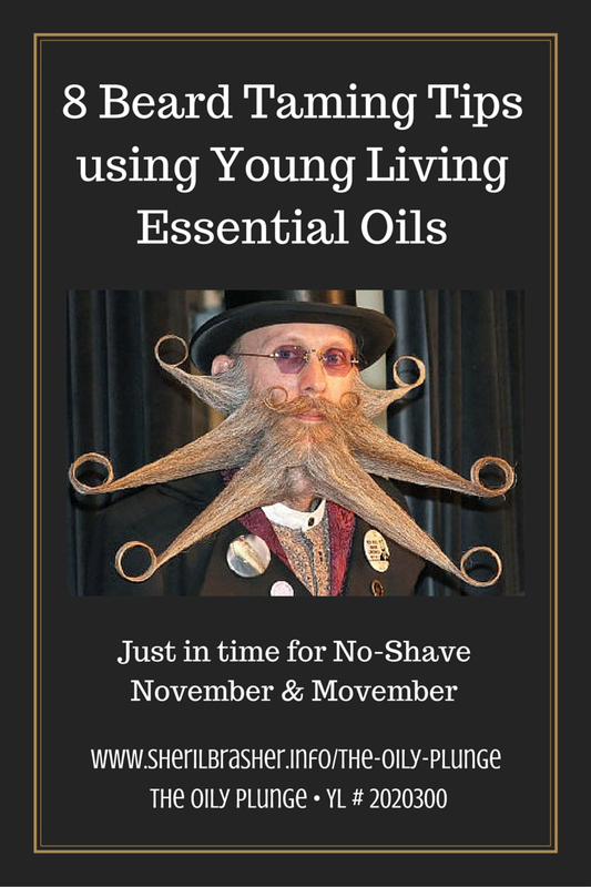 8 Beard Taming Tips and Tricks using Young Living Essential Oils, just in time for No-Shave November & Movember. Head over to sherilbrasher.info/the-oily-plunge to check it out. Don't miss another Tip, Trick or Treasure by signing up for our mailing list today, http://bit.ly/1nxO2qO!