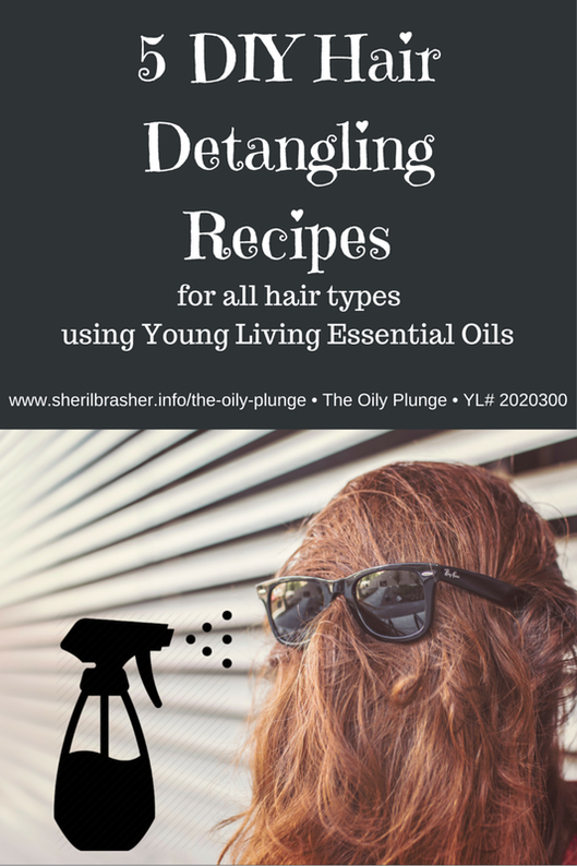 5 DIY Hair Detangling Spray Recipes for every hair type using Young Living Essential Oils. Check out these recipes & more at The Oily Plunge • www.sherilbrasher.com/the-oily-plunge • YL # 2020300. Need some oils? Order some today at http://bit.ly/1rL8jOO. Sign up for our Email List for up-to-date Tips, Tricks & Treasures http://bit.ly/1nxO2qO.