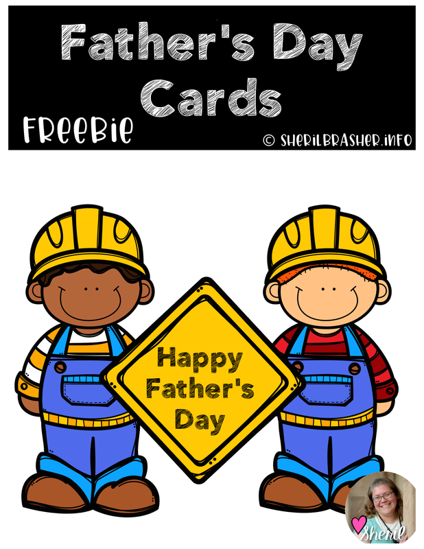 FREEBIE ALERT - Head over to sherilbrasher.info/school-resoureces for this awesome Father's Day Cards FREEBIE! These are super cute and ready to be printed front & back to create an adorable card just in time for Father's Day. #holiday #celebration #printable #free