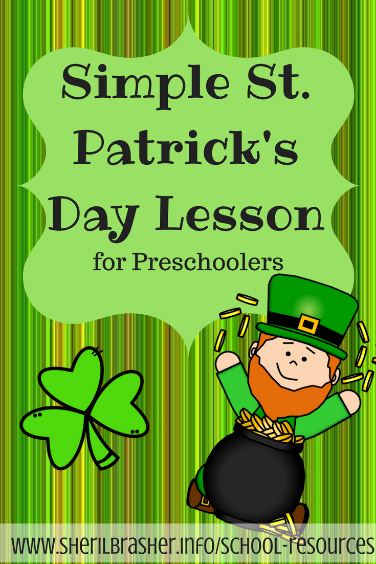 Simple St Patrick's Day Lesson with Craft. This is a great way to share who St Patrick was and why he was so important plus an easy craft idea to help reinforce the lesson.  Find out what we did on sherilbrasher.info/school-resources